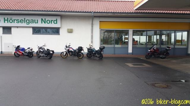 Eine weitere Paus auf dem Rastplatz Hörselgau