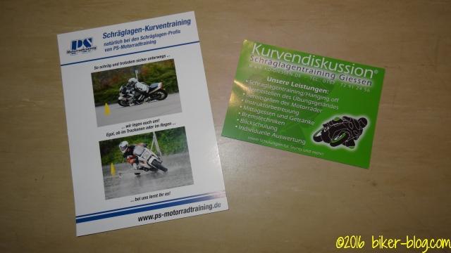 Anbebotsflyer Kurvendiskussion Gießen und PS-Motorradtraining