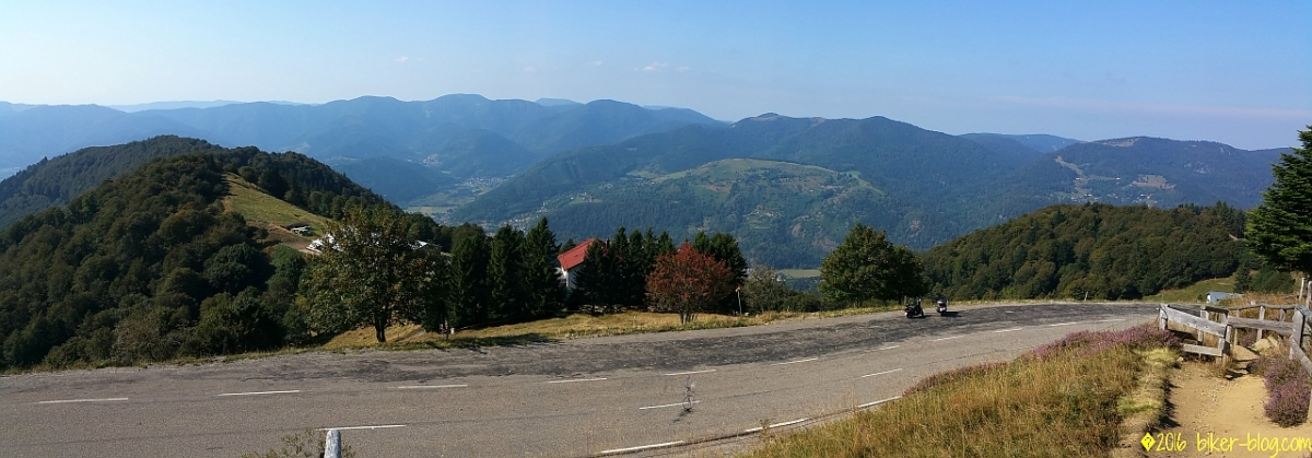 Panoramablick in den Elsass